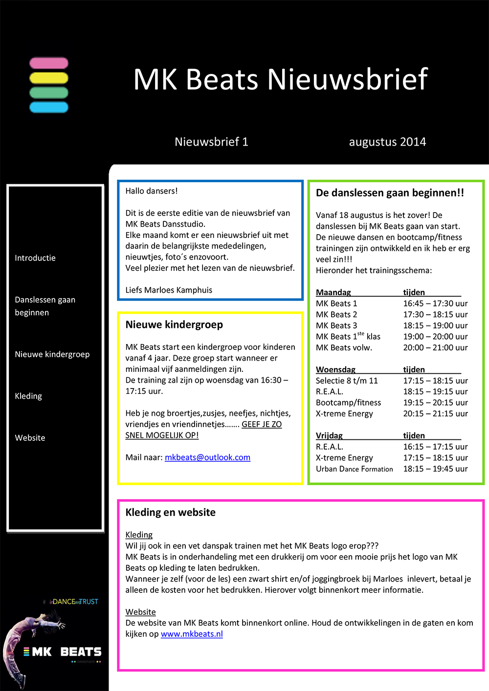 Nieuwsbrief MK Beats augustus 2014