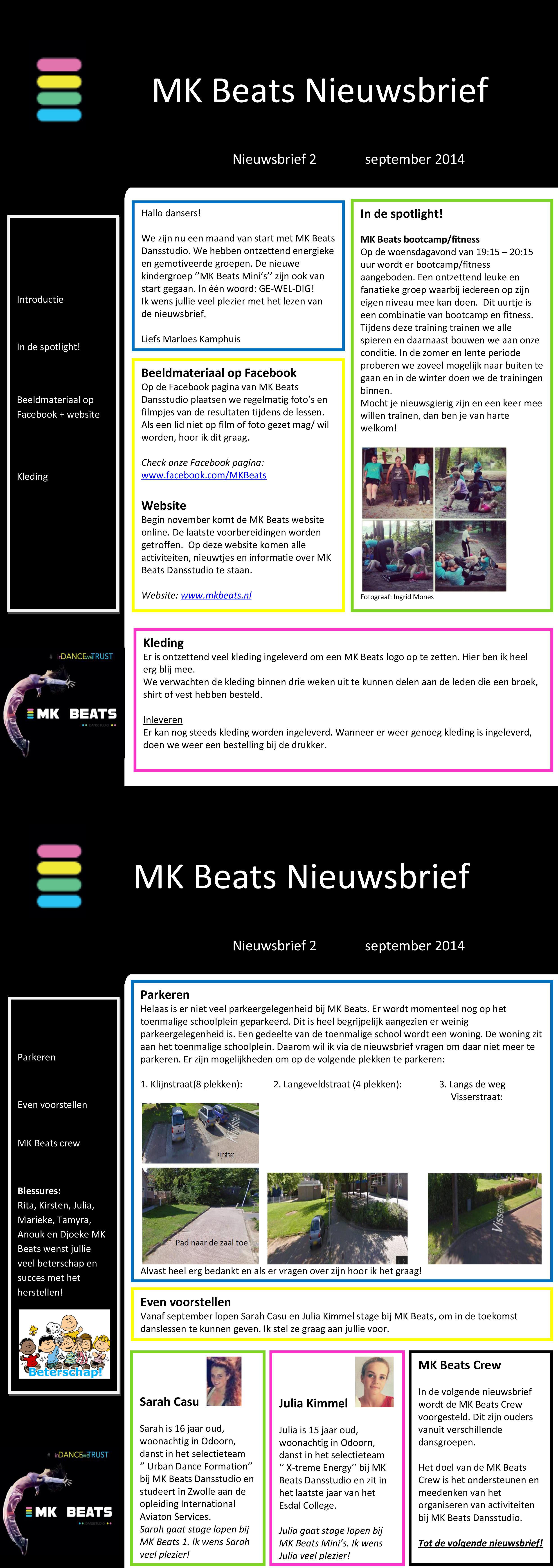 Nieuwsbrief MK Beats september 2014
