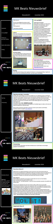 Nieuwsbrief MK Beats november 2014